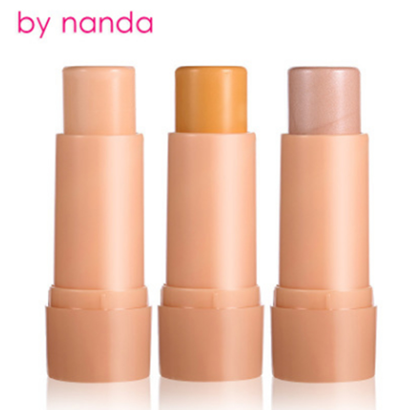 Brand 3 Colors Face 3D Contour Highlighter Bronzer Stick Makeup Pen Shimmer Brighten Skin Highlighting Concealer