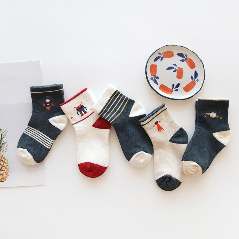 Baby Boy Socks 5 Pairs Children Autumn Winter Cartoon Socks For Girls Kids For Girls To School Sport Baby Girl Clothes #3