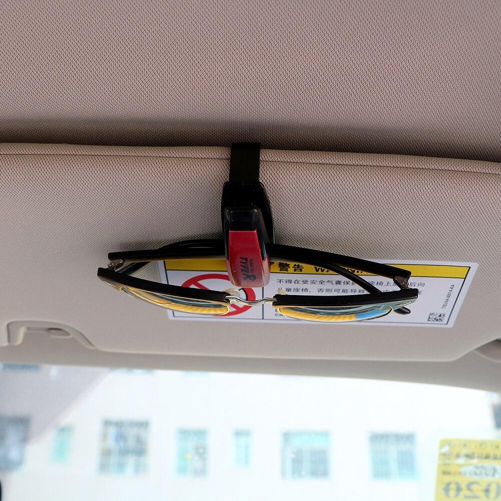 LEEPEE случайный цвет авто крепеж Автомобильный держатель очков Авто козырек автомобиля солнцезащитные очки ID карты держатель билета клип поддержка