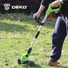 Sale DEKO DKGT06 20V Lithium 1500mAh Cordless Grass Trimmer with Battery Pack and Blade Pendants Garden Tools
