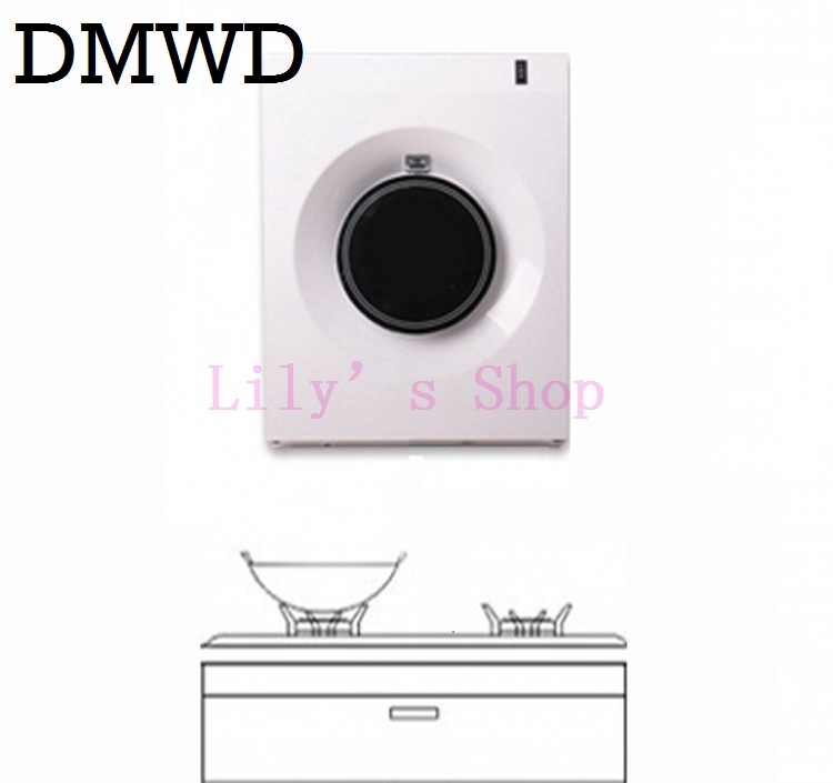 DMWD MINI metal cooker hood side suction range hoods small apartment kitchen apartment pumping off exhaust fan extractor EU US my apartment
