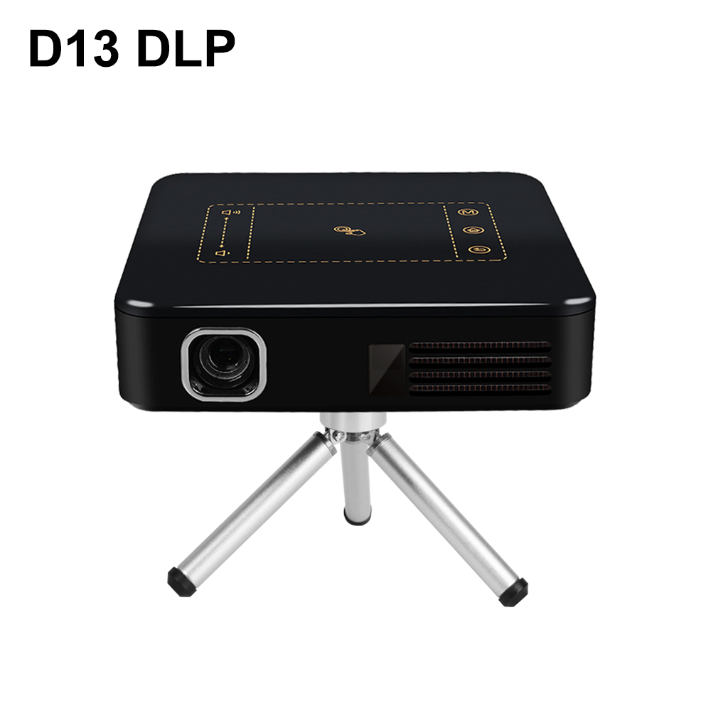 D13 Android 7.1 Portable Mini DLP Projecteur avec TouchPad Intelligent WIFI Bluetooth 150 ANSI Lumen 4 k Proyector LED Beamer home Cinéma