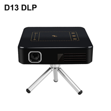 D13 Android 7.1 Portable Mini DLP Projector with Smart TouchPad WIFI Bluetooth 150ANSI Lumen 4K Proyector LED Beamer Home Cinema