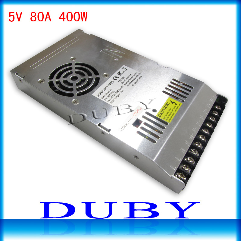 Utral thin 5V 80A 400W Switching power supply Driver For LED Light Strip Display AC100-240V  Factory Supplier Free shipping ac 85v 265v to 20 38v 600ma power supply driver adapter for led light lamp