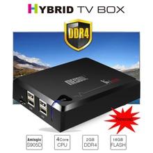 Новинка! mecool Ki Pro ТВ коробка Ki Pro S2 + T2 DVB Amlogic S905D Quad 2 г + 16 г Поддержка DVB-T2 и S2/DVB-T2/DVBS2 ТВ-приставки Android ТВ коробка