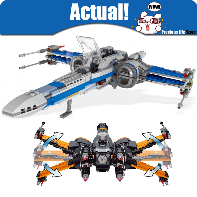 LELE Star First Order Wars Rogue One X wing Fighter Building Block Bricks Kits Toys boys Compatible 75102 75149 75154 legoingly 75102 star wars 7 red five poe s x wing starfighter tie fighter original blocks bricks building kits compatible with legoe