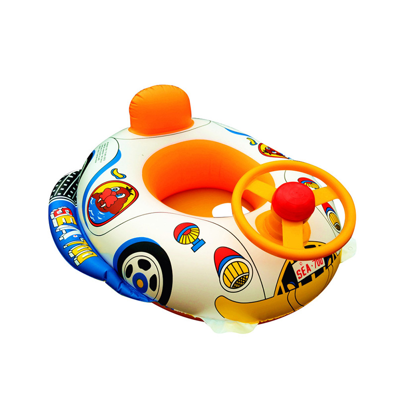 Inflatable Pool Float Baby Kids Swimming Ring With Car Steering Wheel Children Pool Bath Accessories Summer Poor  Toys