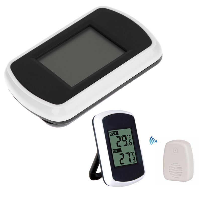 LCD Digital Wireless Thermometer Electronic Temperature Humidity Meter Weather Station Indoor Outdoor Tester cool 1 5 lcd pointer digital display wrist watch blue white