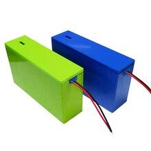 Opakowanie na baterie litowe 13S6P 48V 20Ah obudowa baterii litowo jonowej + uchwyt + nikiel + 13S 20A BMS na akumulator 18650 można umieścić 78 ogniw