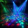 H086 moda led lâmpada e27 movendo a cabeça de iluminação de palco de laser cristal Auto Rotating RGB Par Controlador DJ disco party bola luz