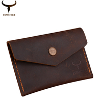 COWATHER 100 Top Quality Cow Genuine Leather Men Wallets Luxury Short Male Purse Dollor Price Carteira