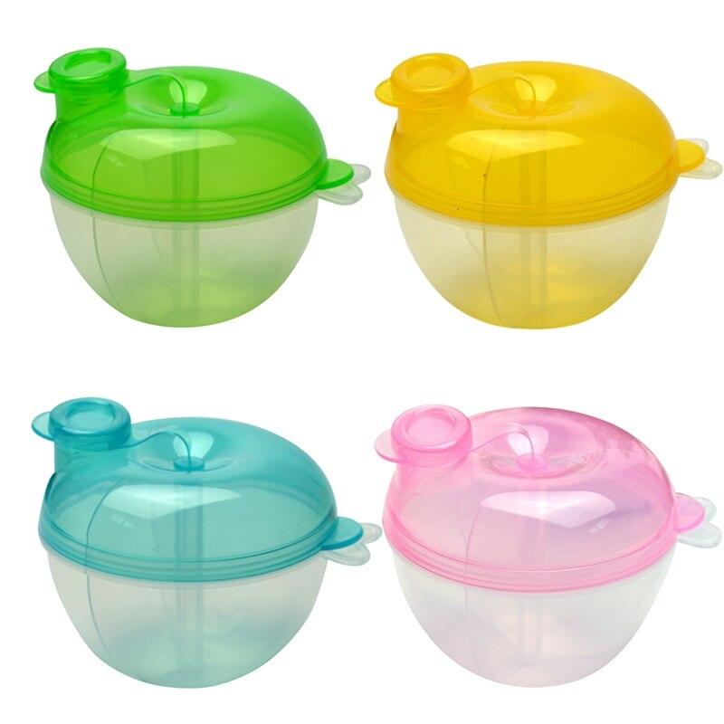 Hordozható baba tejpor élelmiszer konténer tárolás aranyos etetés doboz baba gyerek kisgyermek tároló dobozok
