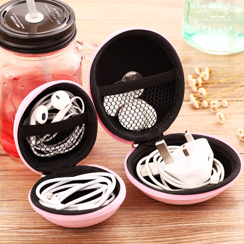 7 Color Fashion Headset Bag Storage Bag Waterproof Headset Storage Bag SD TF Card Cable Rope Box Protection Bag