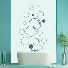 Floating Bubbles Bath Soap Wall Stickers Lather Bathroom Wall Stickers Home Decor Art Decals High Quality Wallpaper Mural SA361
