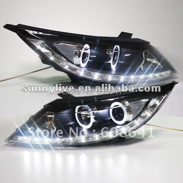 Pro KIA Sportage R Angel Eyes LED Head Lamp 2011 typu V1