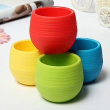 Cute Mini Colourful Plastic Plant Pot