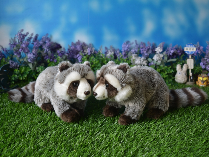 Stuffed Toy Raccoon Dolls  Simulation  Plush Animals Toys Children  Birthday Gifts stuffed wild doll toys african wolf spotted hyenas simulation animals plush toy children dolls rare
