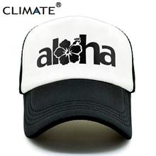 44f0d0b0aad CLIMATE Seaside Aloha Flower Beach Hip Hop Baseball Trucker Mesh Caps