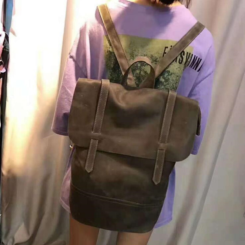 Backpack Genuine Leather Female Travel Backpacks Teenager School Bags Mochila Feminina Rucksack Mochilas Mujer