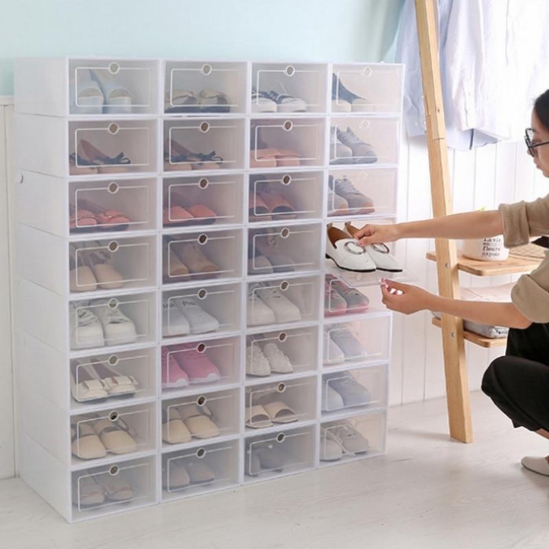 DIY 1 Grid Shoe Box Drawer Divider Home Storage Foldable Shoes Box Plastic Storage Shoe Box Drawer Organizer Household
