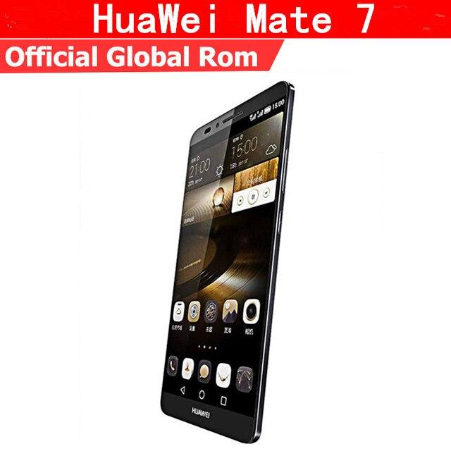 """Международная прошивка Huawei Ascend Mate 7 4G мобильный телефон стандарта LTE на ОС Android 4,4 6,0 """"FHD 1920×1080 3 ГБ Оперативная память 32 ГБ Встроенная память NFC Fingrprint"""