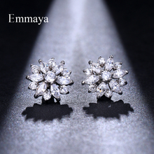 Emmaya Jewelry High Quality Gems Glittering Rhinestone Earrings Female Exquisite Zircon sparkling Gift