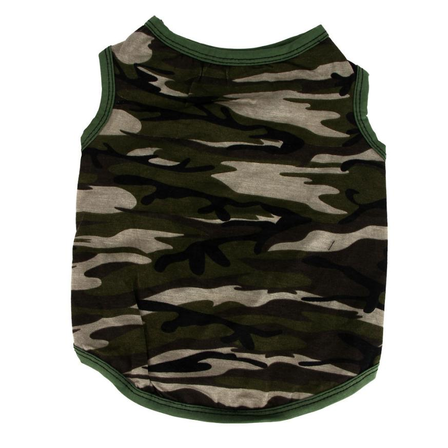 Pet Clothes Camouflage Summer Pet Puppy Fashion Vast Boy Girl High Quality Tound Neck T Shirt Ropa Perro #3