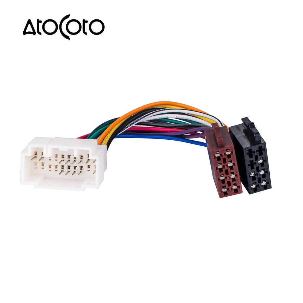 car stereo radio iso standard wiring harness connector 4 Blade Wiring Harness Connectors Automotive Wiring Harness Connectors