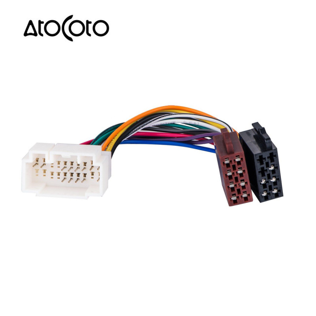 Car Stereo Radio ISO standard Wiring Harness Connector Adapter Plug