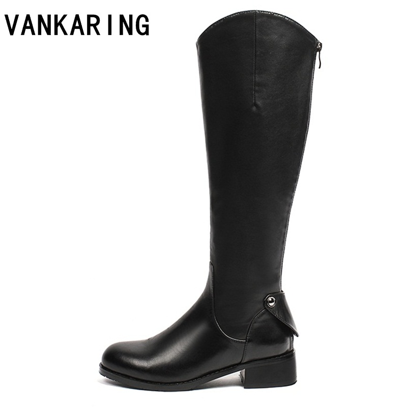 VANKARING knee high boots for women ladies shoes roman riding knee high cowboy boots black martin long winter snow boots womenVANKARING knee high boots for women ladies shoes roman riding knee high cowboy boots black martin long winter snow boots women