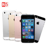 """Desbloqueado iPhone Original Da Apple SE Dual Core 2G RAM 16/64GB ROM 4G LTE Telefone Móvel iOS Toque ID Chip A9 4.0 """"12.0MP Telefone SE"""