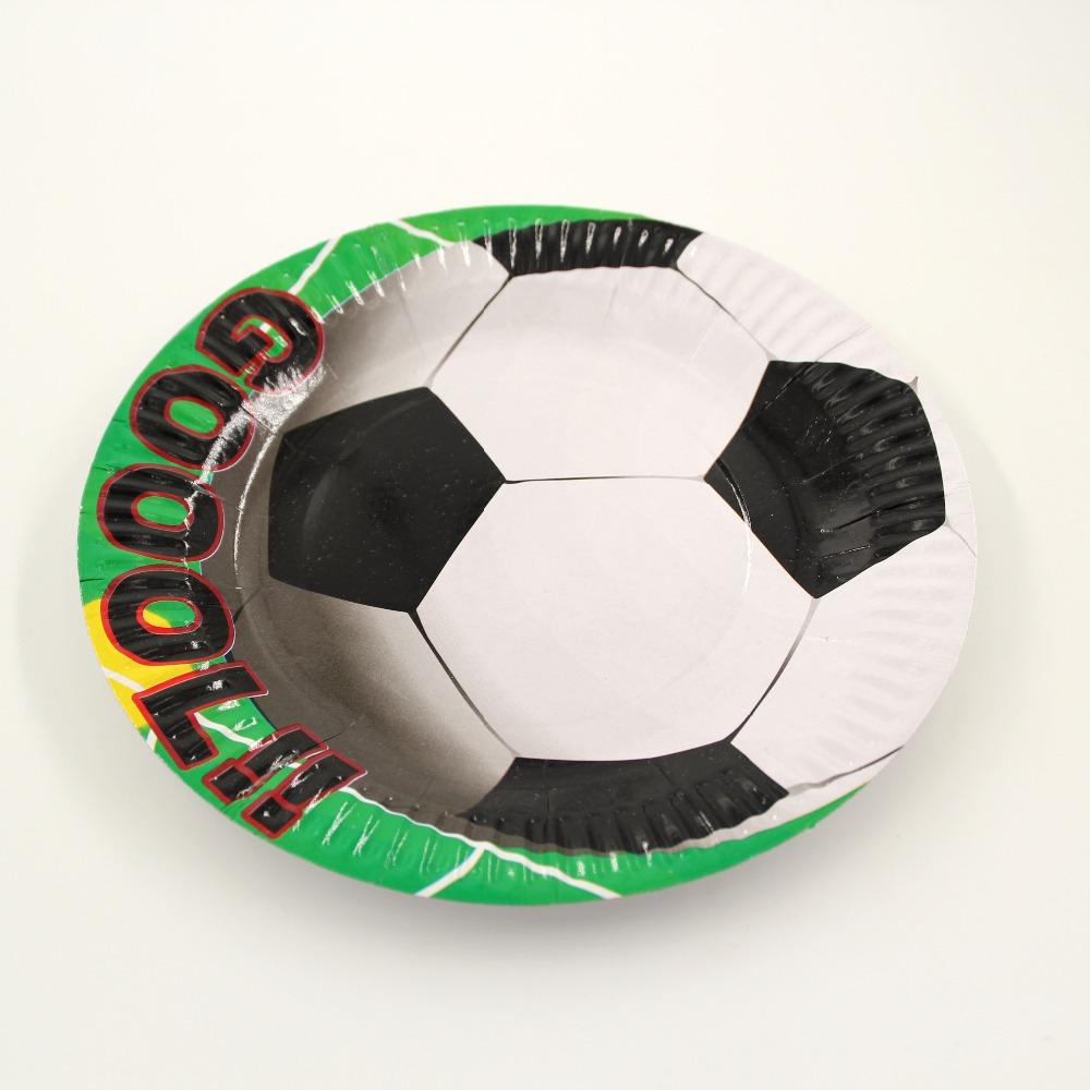 10pcs Football Theme Party Paper Plates Disposable Round Soccer Cake Plate Happy Birthday Party Dish Supplies Decoration-in Disposable Party Tableware from ... & 10pcs Football Theme Party Paper Plates Disposable Round Soccer Cake ...