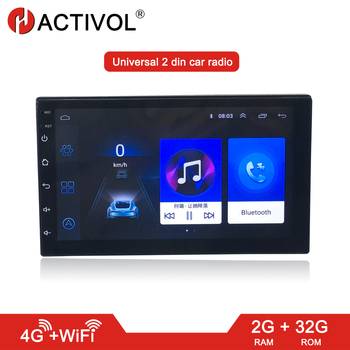цена на Android 8.1 2 DIN Car Radio 2G RAM 32G ROM Bluetooth 4G WIFI Universal 7'' 2din Car DVD GPS navi Player Quad Core AUTO RADIO