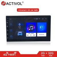 Android 8.1 2 DIN Car Radio 2G RAM 32G ROM Bluetooth 4G WIFI Universal 7'' 2din Car DVD GPS navi Player Quad Core AUTO RADIO