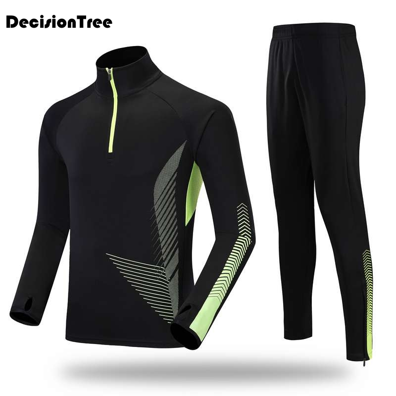 2019 running set 2 pcs men long running sets women basketball jogging fitness training suit running tracksuit gym sets in Running Sets from Sports Entertainment
