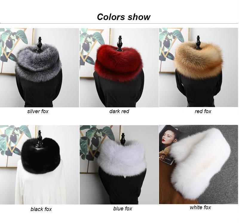 fox fur scarf colors