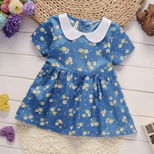 BibiCola  Summer Baby Dress Casual Style Baby Girls Dress High Quality