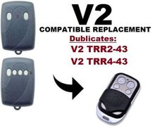 V2 TRR2-43, V2 TRR4-43 Garage Door/Gate Universal Remote Control Cloning/Duplicator Remote Control Key Fob fixed code 433.92mhz v2 compatible remote for v2 garage door remote model v2 txc phoenix2 phoenix4 tsc4 trc v2 handy remote compatible