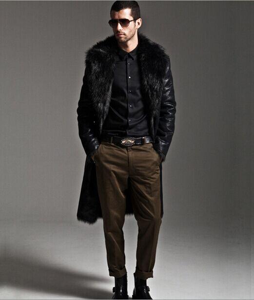Artificial Fur Coat 2019 Winter Mens Faux Fur Coats Jackets Parka Windbreaker Two Ways Wear Plus Size Long Fur Overcoat S71 Jackets & Coats