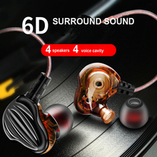 QKZ Computer Earphones CK4 In-ear Earphones Audifonos DJ Profesional HIFI Subwoofer Earphones for Mobile Phone Computer earphones sony mdr zx110 headphone for phone earphones for computer on ear