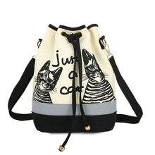 2016 frauen Taschen Spanisch Leinwand Eimer Tasche Handtasche Mode Retro Frauen Leinwand Umhängetasche Vintage Print Katze Taschen Frauen XA477B