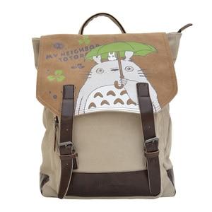 Image 1 - Рюкзак Феи Серафима Мой сосед Тоторо, Холщовый школьный рюкзак с мультяшным принтом для подростков, Детский рюкзак, сумка через плечо