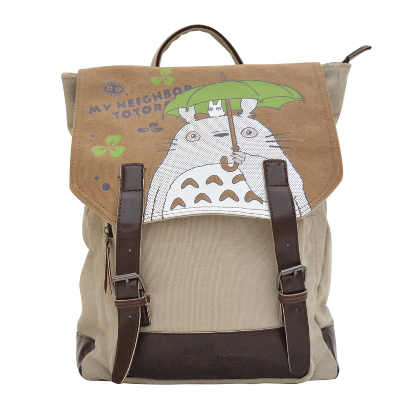 FAIRY SERAPHIM My Neighbor Totoro Backpack Cartoon Printing Canvas Teenager Schoolbag Children Mochila Shoulder Bag цены
