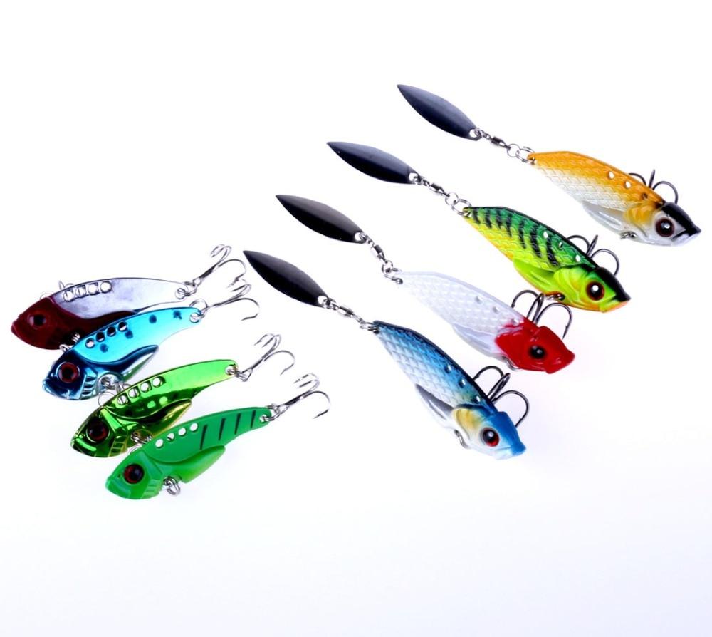 Freshwater fish china - New 8pcs Metal Vib Fishing Lures 11g 20g 6cm 5 5cm Swim Freshwater Pomfret Silurus Meridionalis