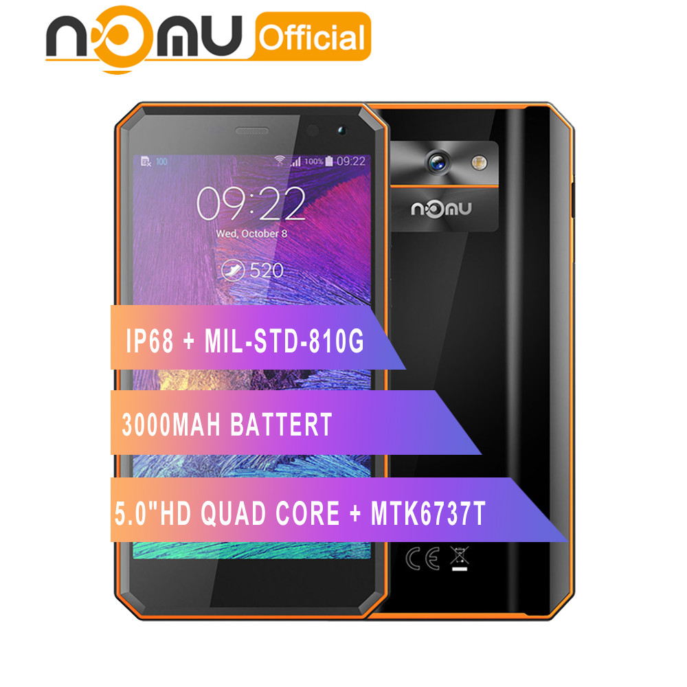 Original Nomu M6 smartphone 5 0 HD Quad Core 2GB 16GB MTK6737T Android 6 0 13