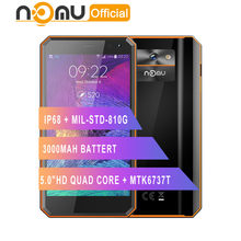 "Original Nomu M6 smartphone 5.0"" HD Quad Core 2GB+16GB MTK6737T Android 6.0 13.0MP 1280x720 3000mAh IP68 Waterproof Mobile Phone(China)"