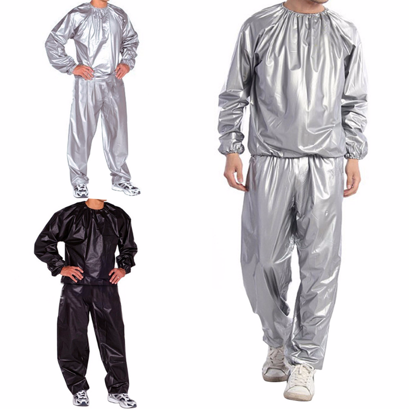 Saunas Running Cycling Sweat Track Sauna Suit Fitness Weight Loss Exercise Sport 2XL-3XL