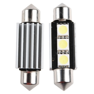 أضواء 36 ملليمتر 3 5050 smd led اكليل ضوء سيارة في canbus c5w خطأ الشحن السيارات السيارات مصباح لمبة الضوء الأبيض dc12v