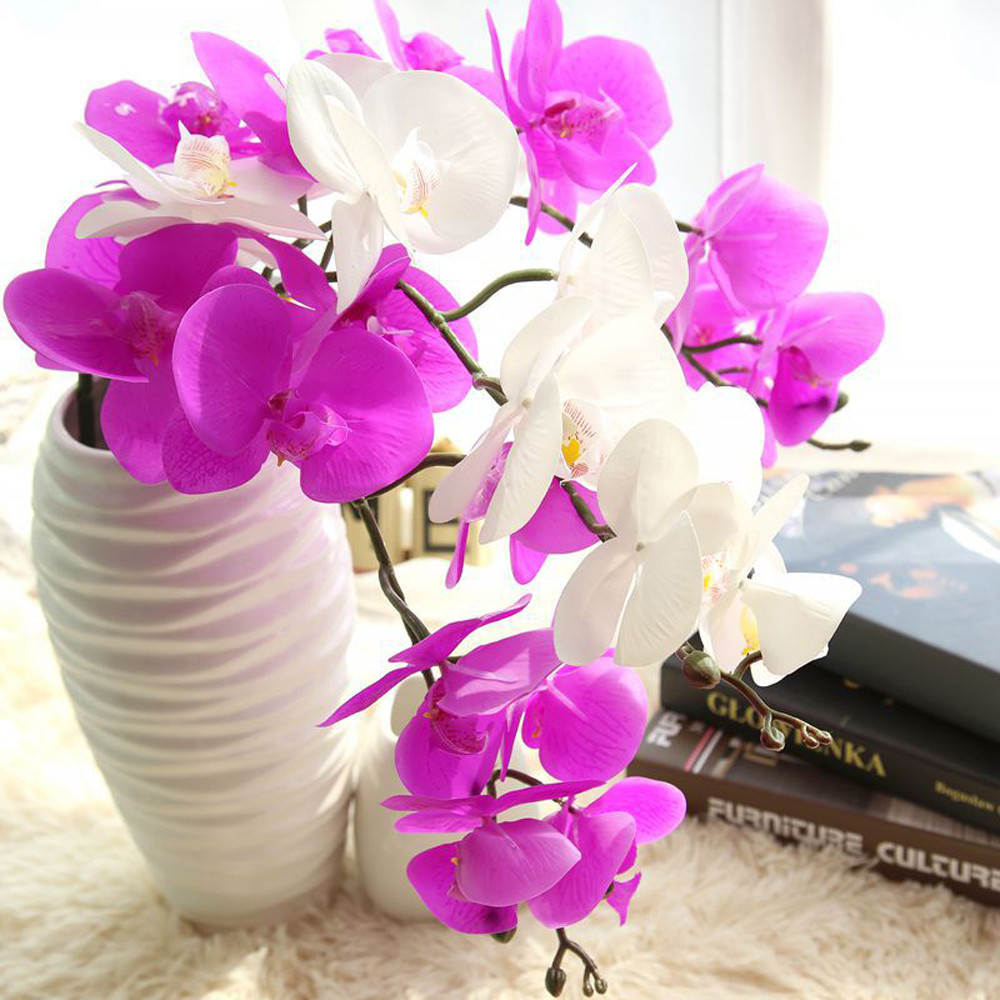 Aliexpress.com : Buy Real Orchid Flower 9 Heads Mini Latex Orchids ...