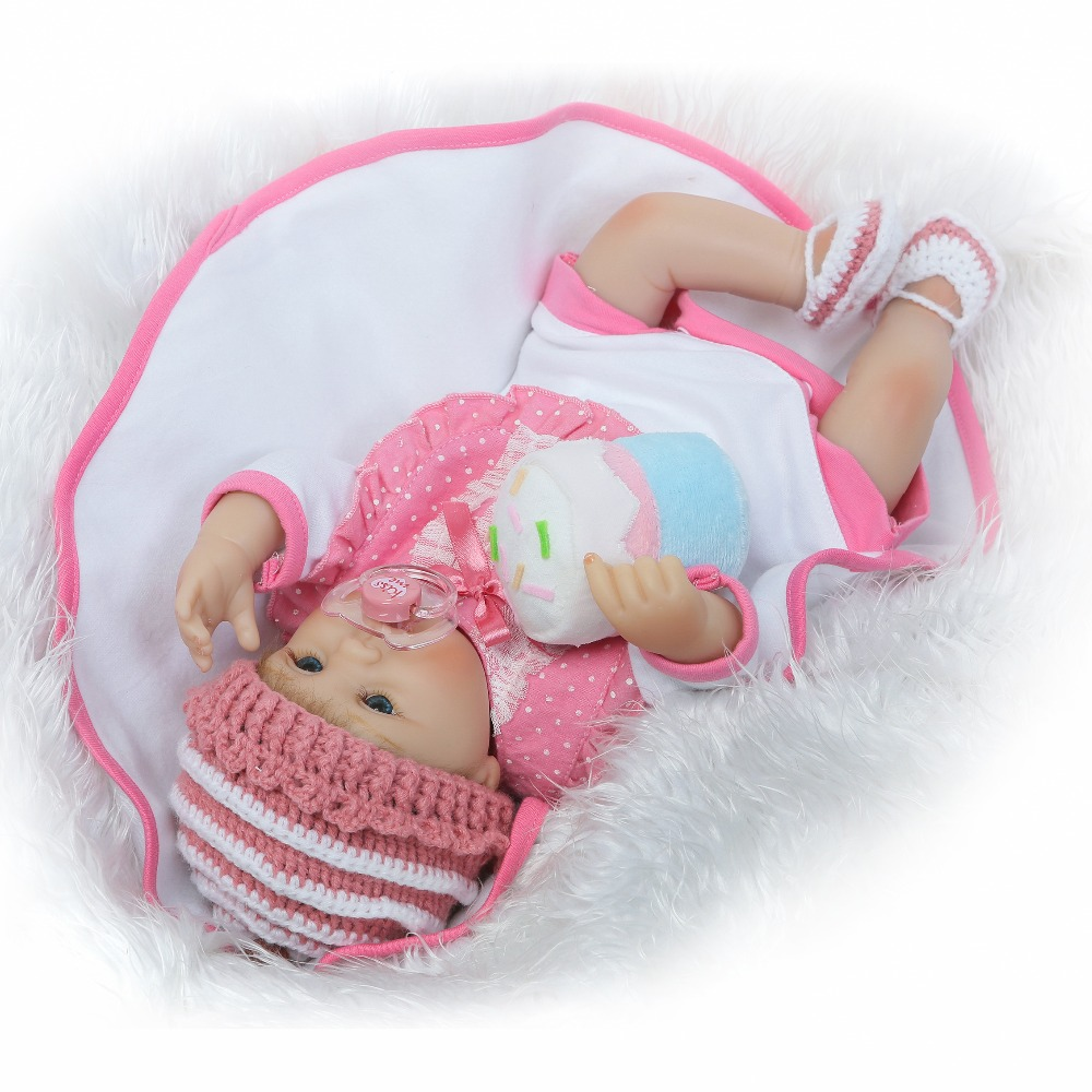 NPKCOLLECTION 17 inch lifelike reborn lovely premmie baby doll reborn baby playing toys for kids Christmas Gift